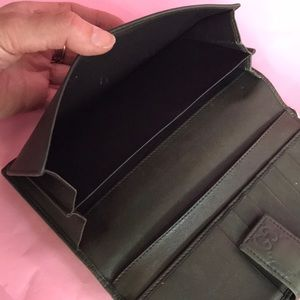 Gucci Bags - Dark olive Gucci leather large wallet